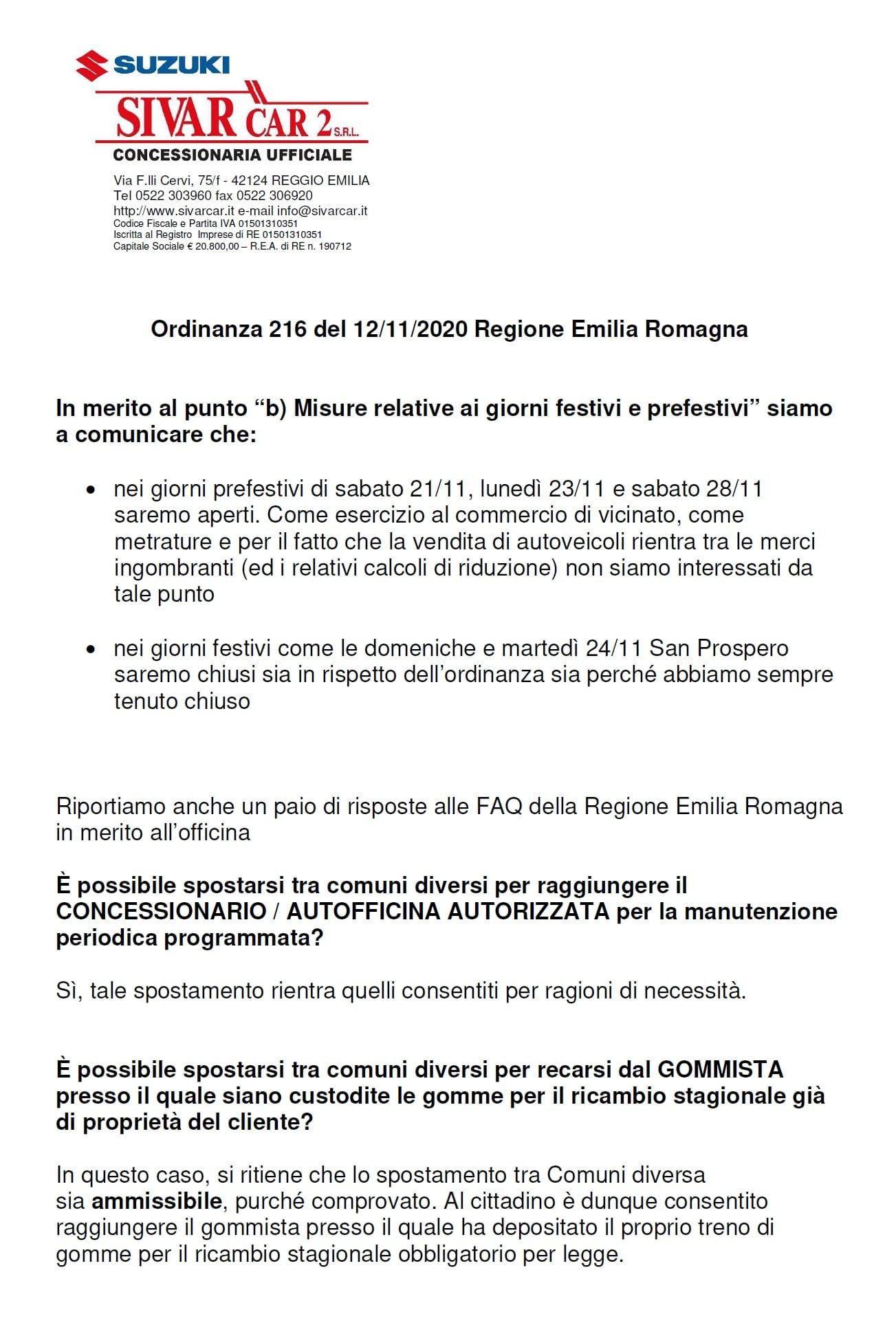 2020-11-20 comunicazione festivi e prefestivi